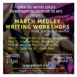 2018 March Medley Writing Workshops by Carla M. Cooke