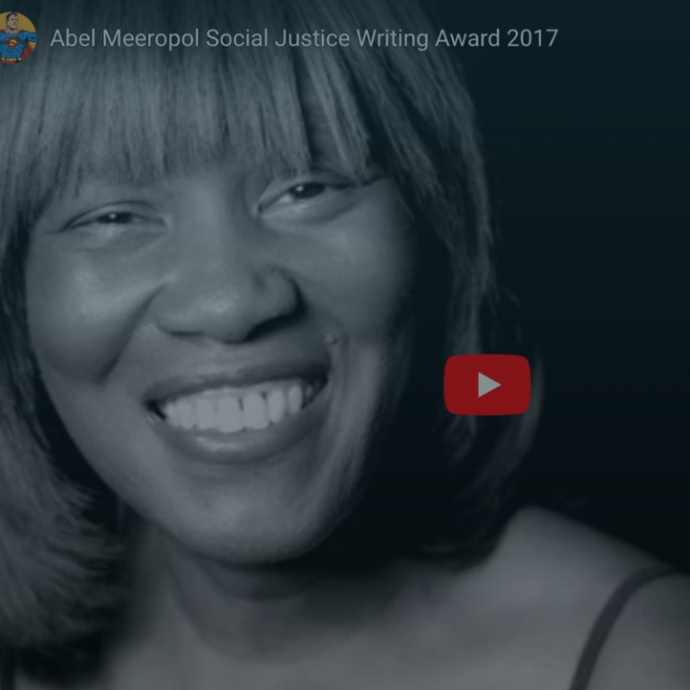 Abel Meeropol Social Justice Writing Award Video